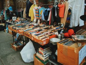 The best way to deduct moving expenses is to declutter with a yard sale like this one