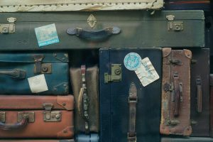 Bunch of suitcases