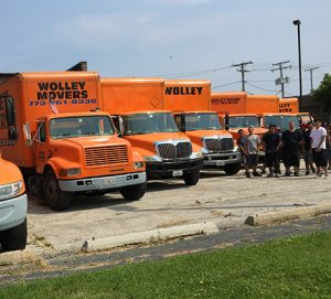 Wolley Movers trucks.