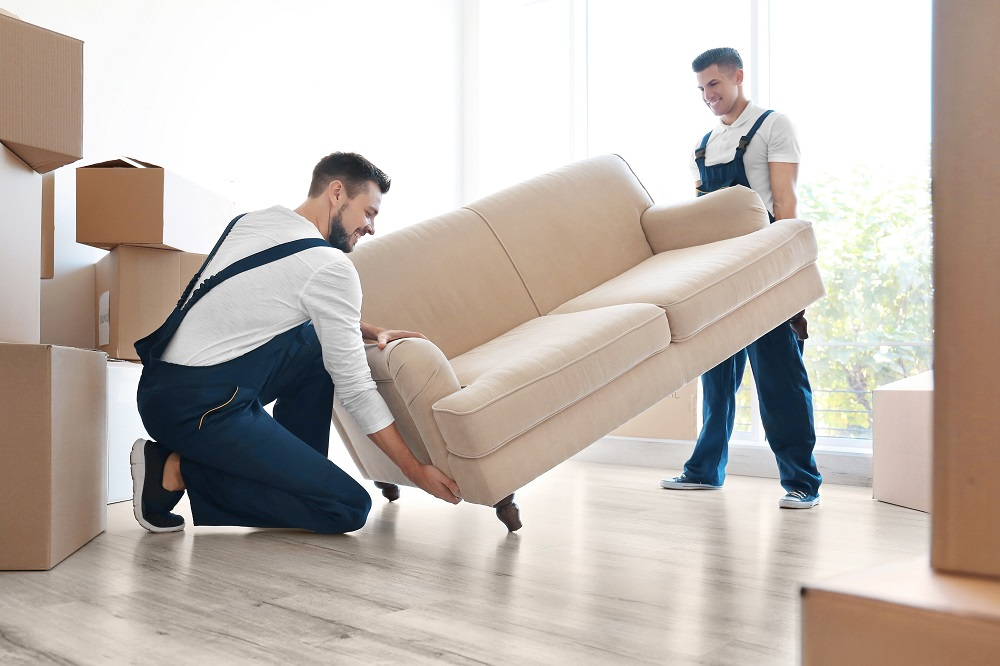 Movers Carrying Sofa